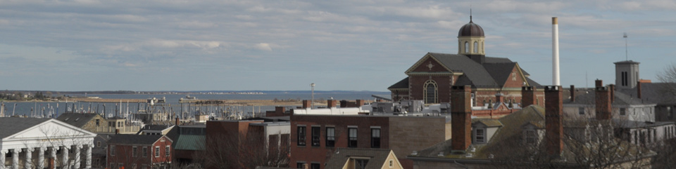 Historic buildings and the waterfront in New Bedford Whaling National Historical Park
