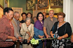 Ribbon Cutting for Communities of Whaling exhibit opening.