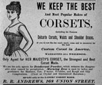 A corset advertisement. from the 19th century