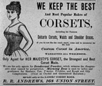 Advertisement for woman's corset.