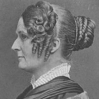 Black-and-white image of Maria Weston Chapman, side profile.