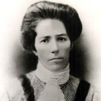 Black-and-white photo of Maria F. Soares