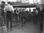 Men dancing on a whaleship.