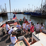 "Something Fishy campers aboard Schooner ""Ernestina"""