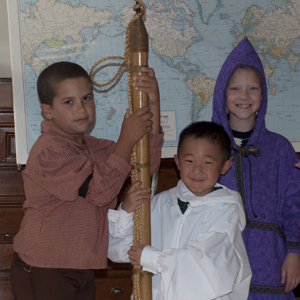 Three kids find out what a whaling harpoon really looks and feels like!