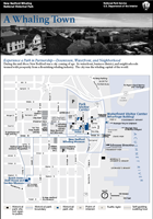 Self guided tour map that guides visitors through the historic downtown area.