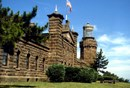 Twin light towers at Navesink lighthouse