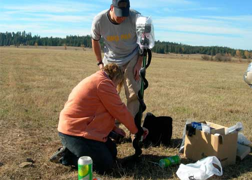 Soil monitoring at Weippe Prairie site, Idaho