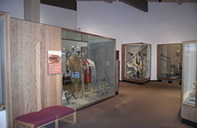 Museum exhibits at the Nez Perce National Historical Park visitor center at Spalding, Idaho.