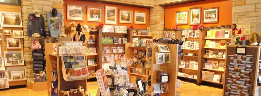 bookstore at Canyon Rim Visitor Center