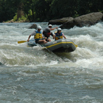 whitewater rafters on the New River