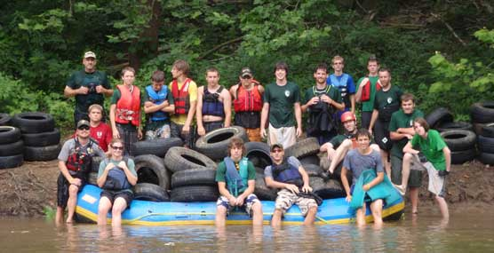Boy Scouts assist with river cleanup