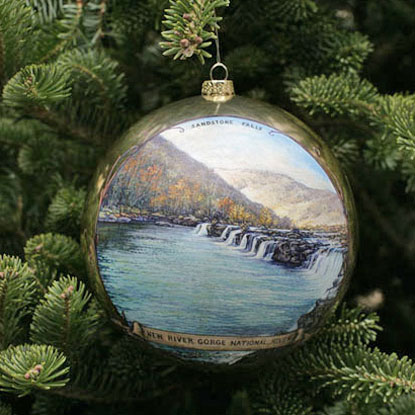 Christmas Ornament for New River Gorge NR