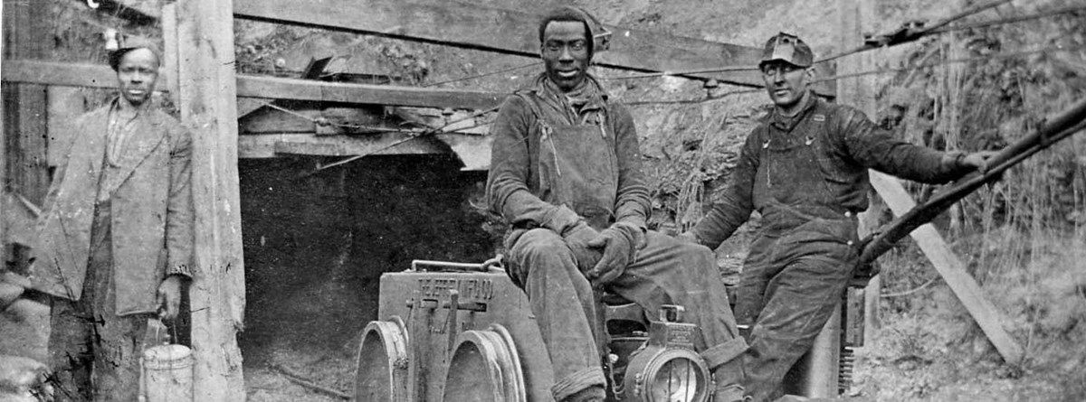 historic photo of coal miners