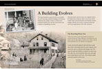 A Building Evolves wayside exhibit