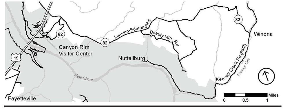 Getting to Nuttallburg Map