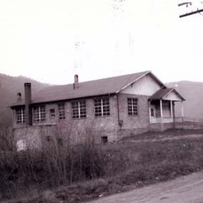 historic photo of Sandstone School