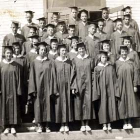 historic photo of graduating class of 1938