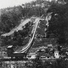 historic photo of coal conveyor and tipple