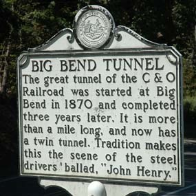 Big Bend Tunnel sign