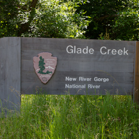 Glade Creek sign