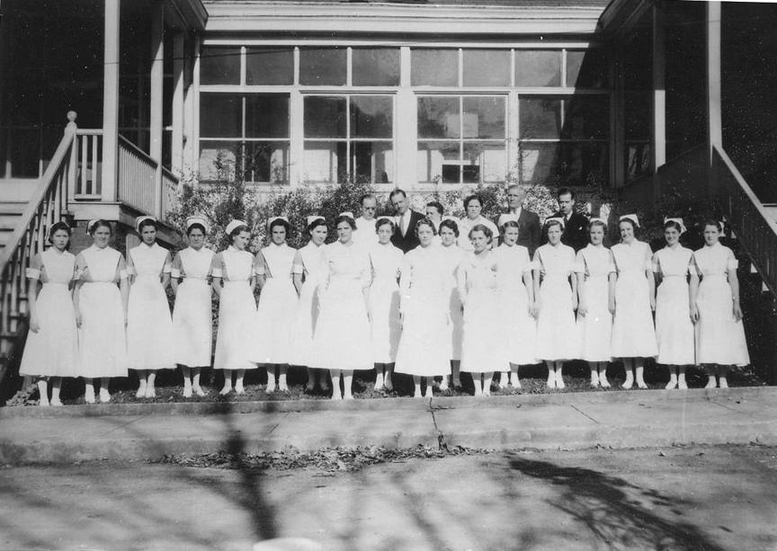 historic photo of nurses at McKendree Hospital