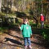 young hiker at Nuttallburg