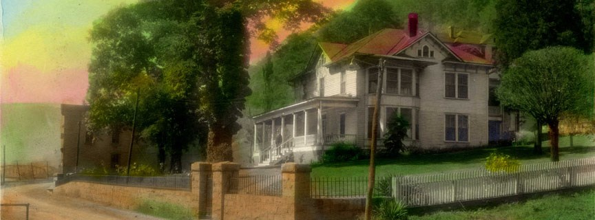 colorized historic photo of house in Prince
