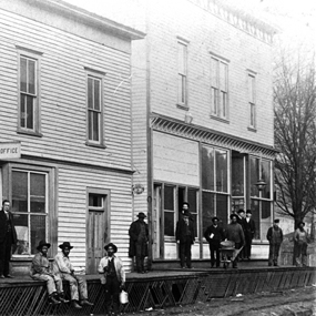 historic image of store and post office