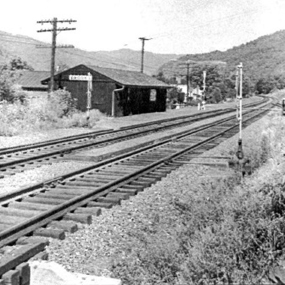 historic photo of train station