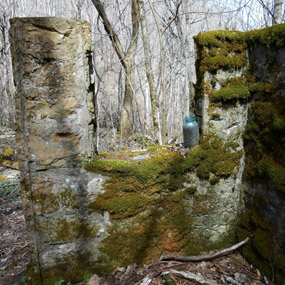 ruins of an old homestead