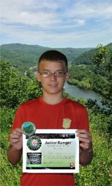 A successful Junior Ranger is awarded with a badge and a patch.