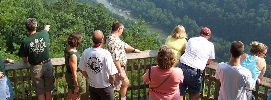 visitors at scenic overlook