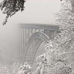 bridge with snow