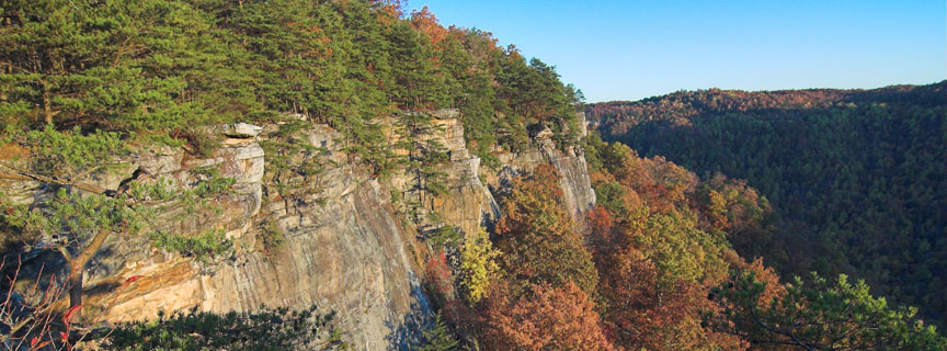 cliffs along the gorge