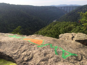 graffiti at overlook