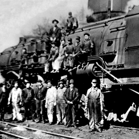 historic photo of the C&O Railway