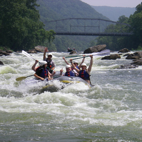 Rangers in Training whitewater rafting