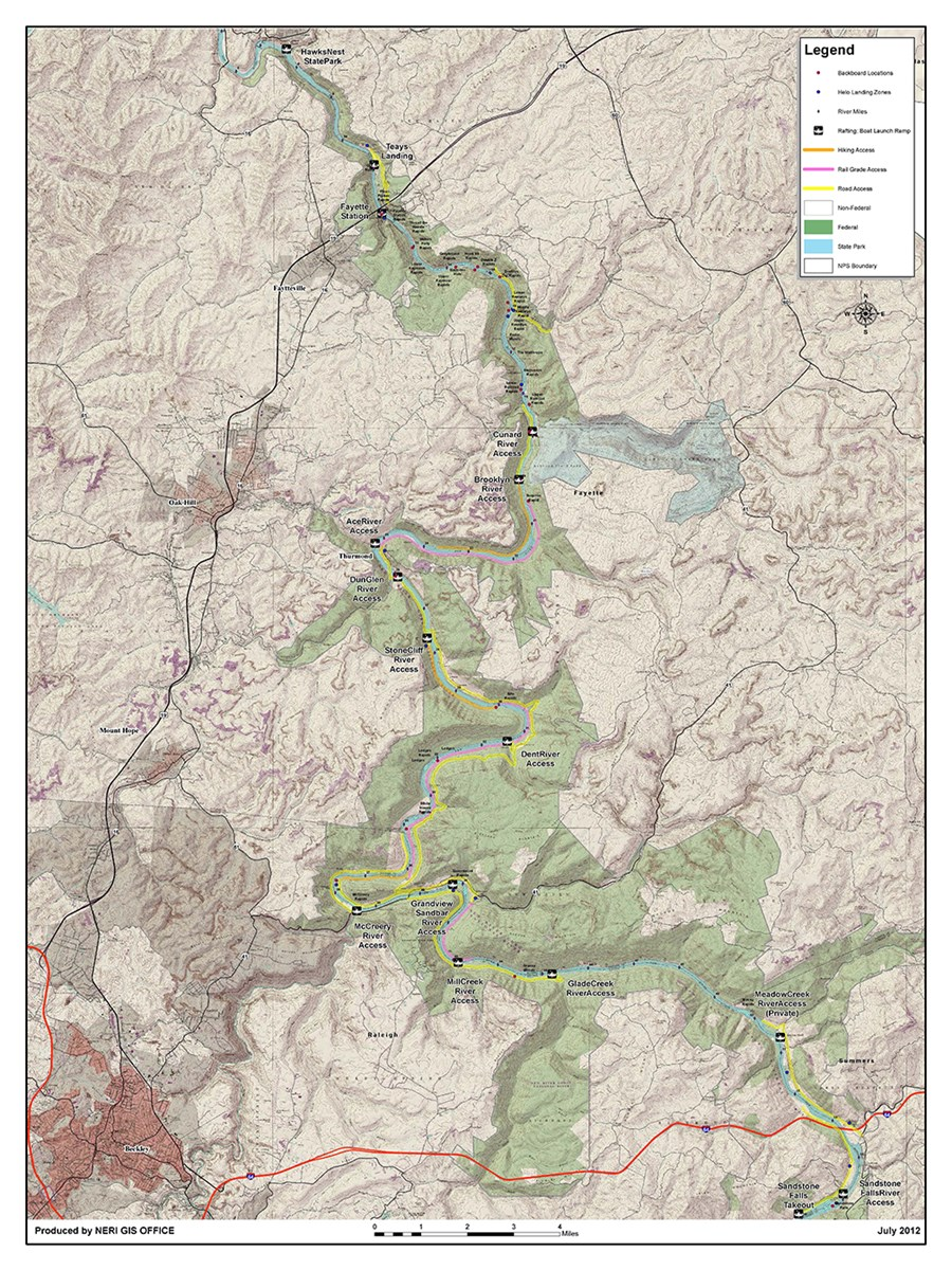 Emergency River Access Map