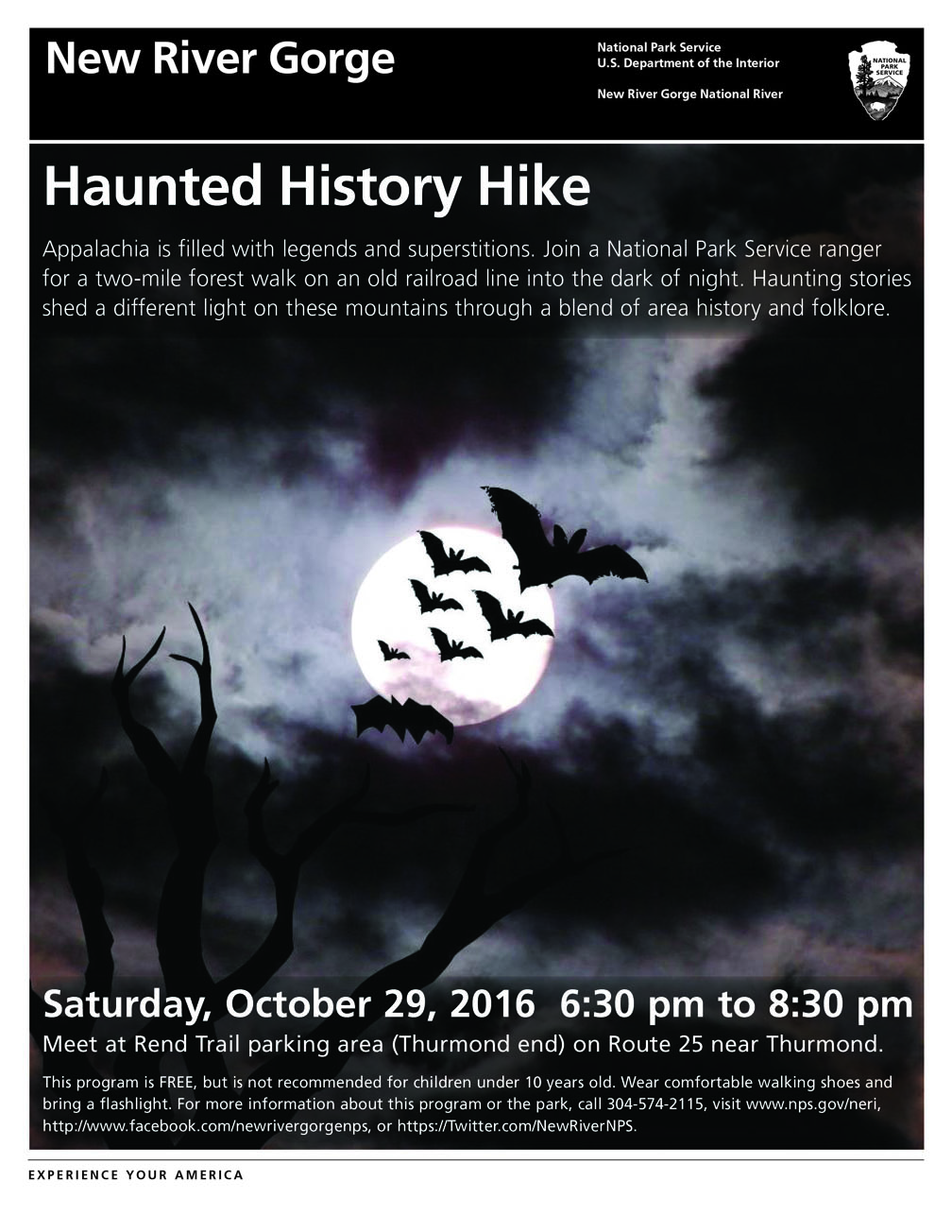 Haunted History Hike flier