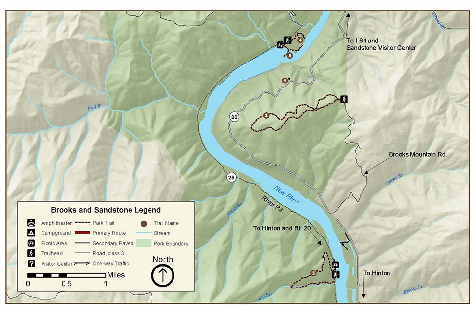 Sandstone Brooks Area Hiking Trails Map