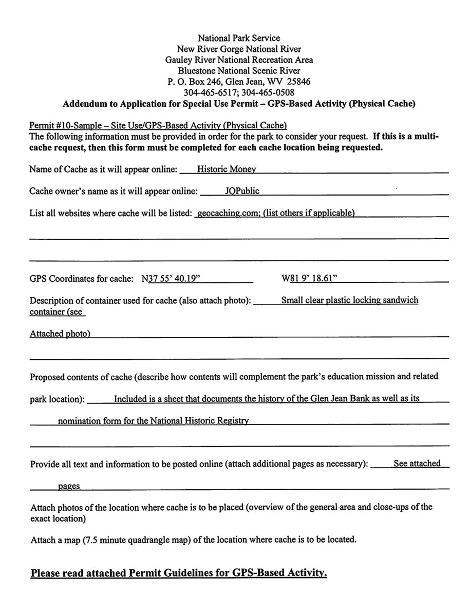 Sample GPS Permit page 3