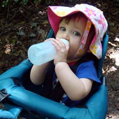 young hiker staying hydrated