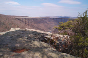 View of New River Gorge Bridge from Long Point