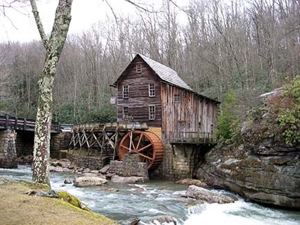 grist mill with river