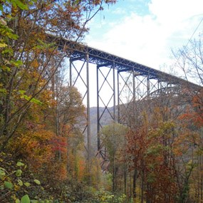 New River Gorge Bridge from Bridge Trail