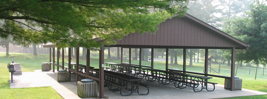 picnic shelter at Grandview