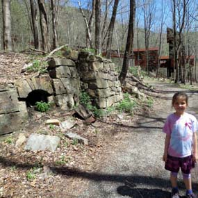 young hiker by coke ovens