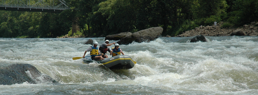 Rafting on the lower New River