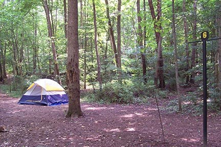 tent and campsite